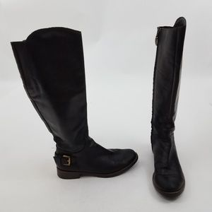 Guess Boots 8 M Black Lurie Leather Knee High